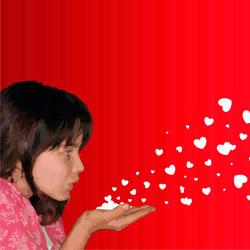 chica-soplando-corazones