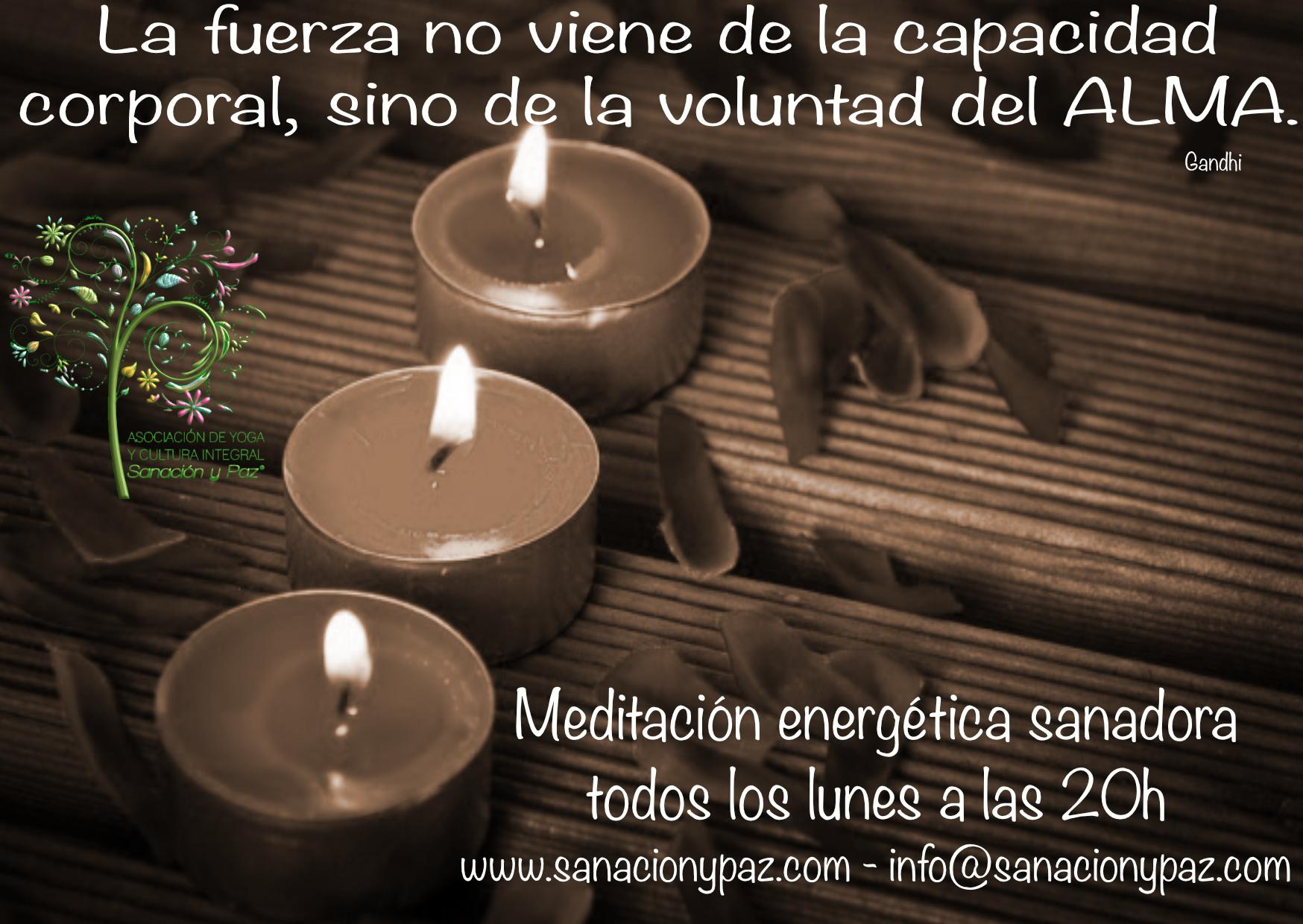 meditación velas sepia